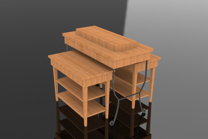 White Nesting Table For Retail Store ~ Retail tables silver star industries