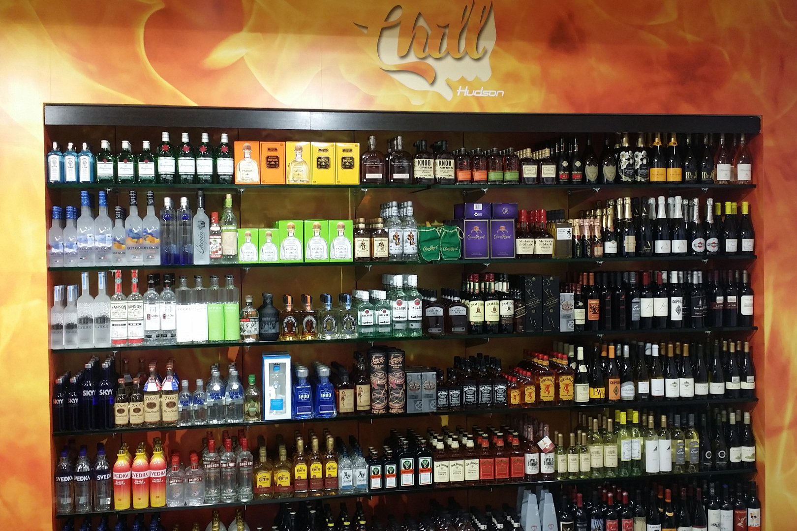 Retail Fixture - Alcoholic beverages shelving