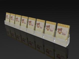 Greeting card displays silverstar industries ss8 single tier acrylic greeting card display rack m4hsunfo