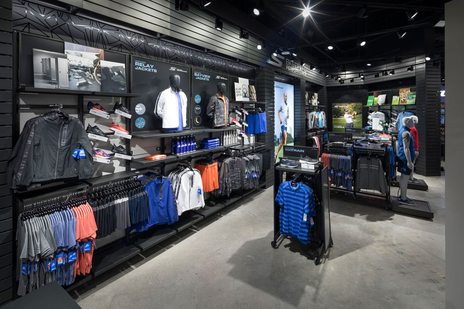 Skechers athletic apparel displays