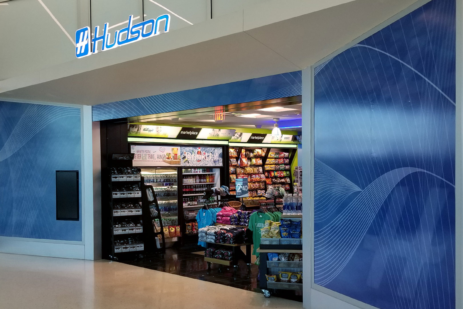 FLL Hudson Airport Retail Fixtures Storefront