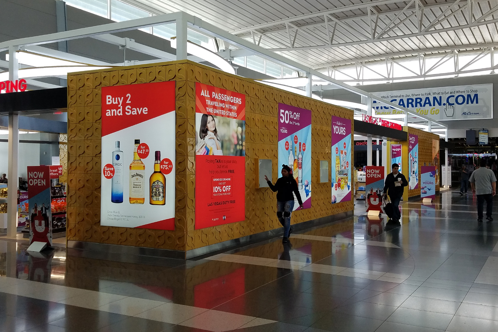 Duty Free High End Retail Fixtures Storefront