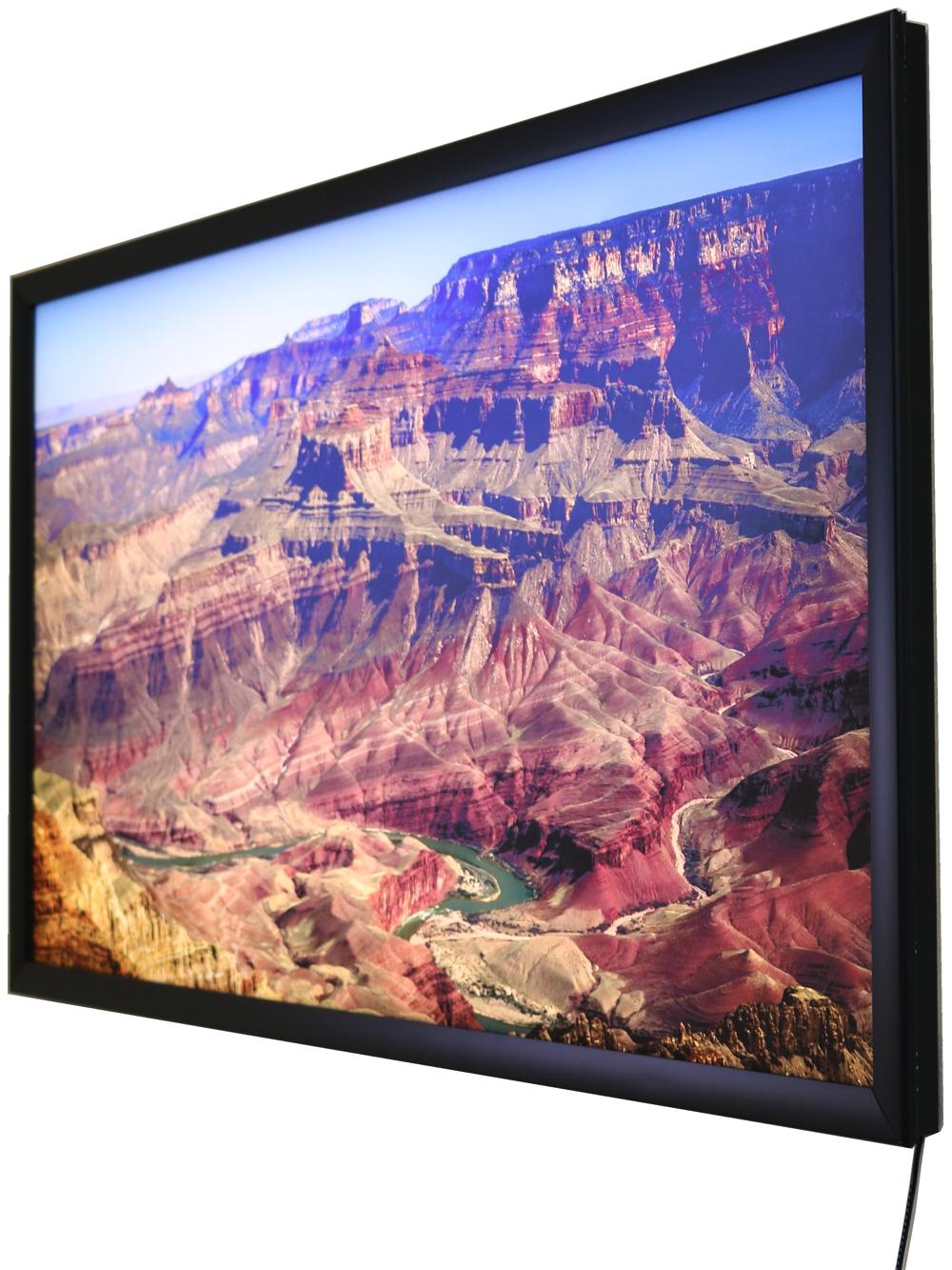 grand canyon image on light panel