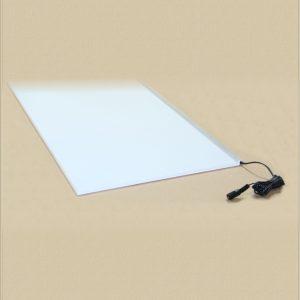 a blank white light panel