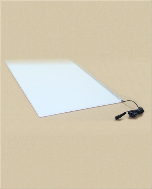 a blank white light panel
